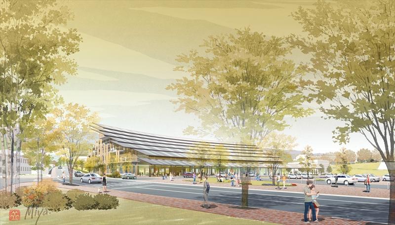 日立市庁舎設計競技外観パース