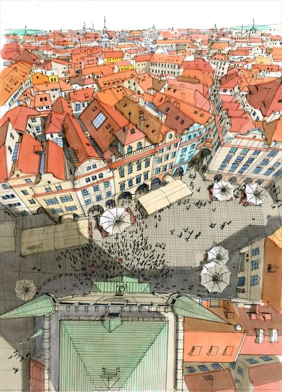 旧市街広場俯瞰