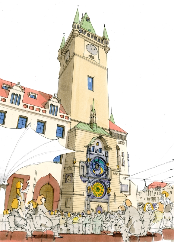 旧市街広場仰望