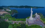 釜石湾鳥瞰