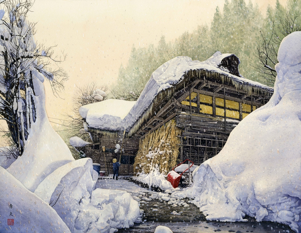 第19回2013公募ふるさとの風景展 入選 只見の冬