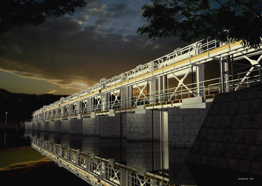 十六橋水門 (土木学会選奨土木遺産指定)
