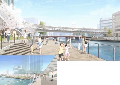 大岡川横断人道橋新設設計業務委託公募型プロポーザルデザイン提案