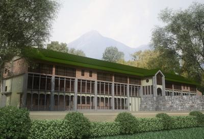静かで緑豊かな会津(福島県)の学校