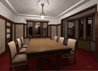 安積疏水事務所貴賓館1階室内