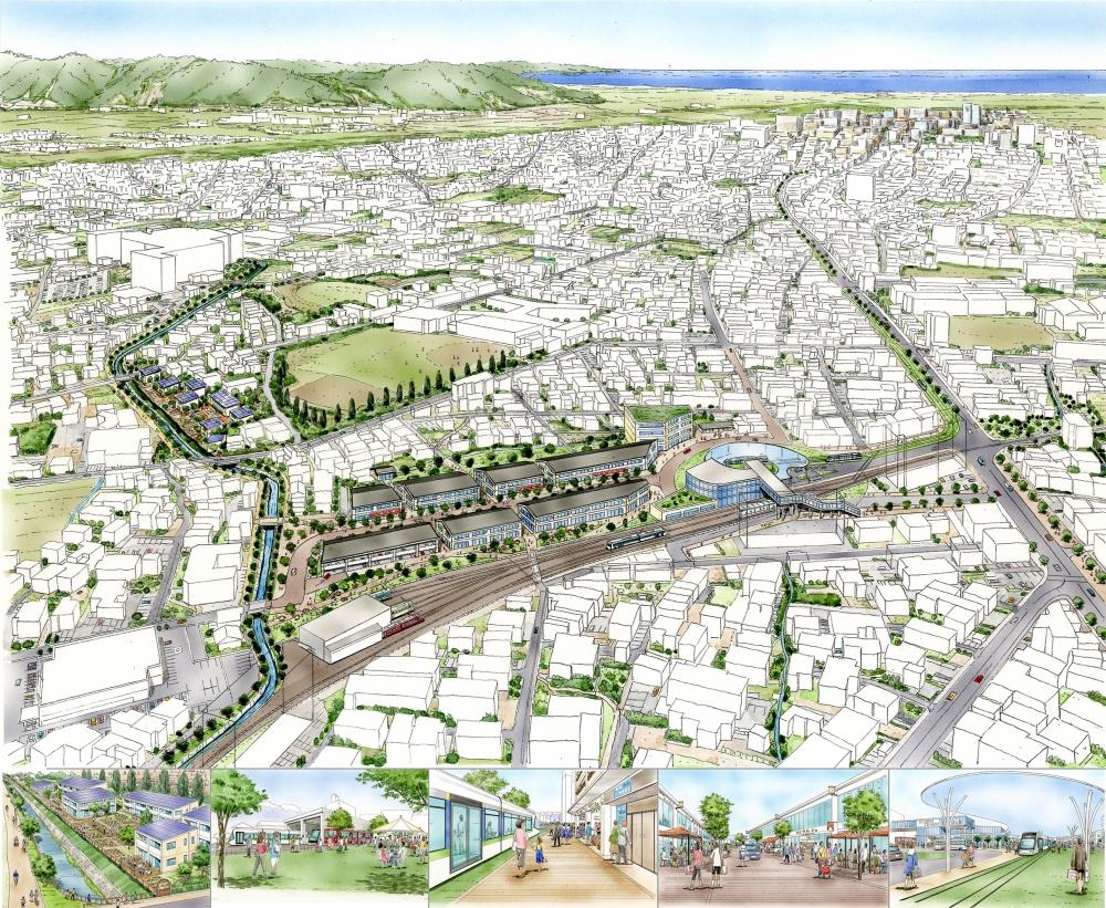 T市やさしいまちづくりコンペ案