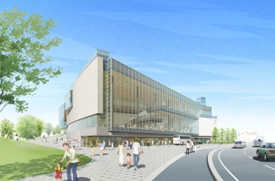 富山県美術館(南西側外観)