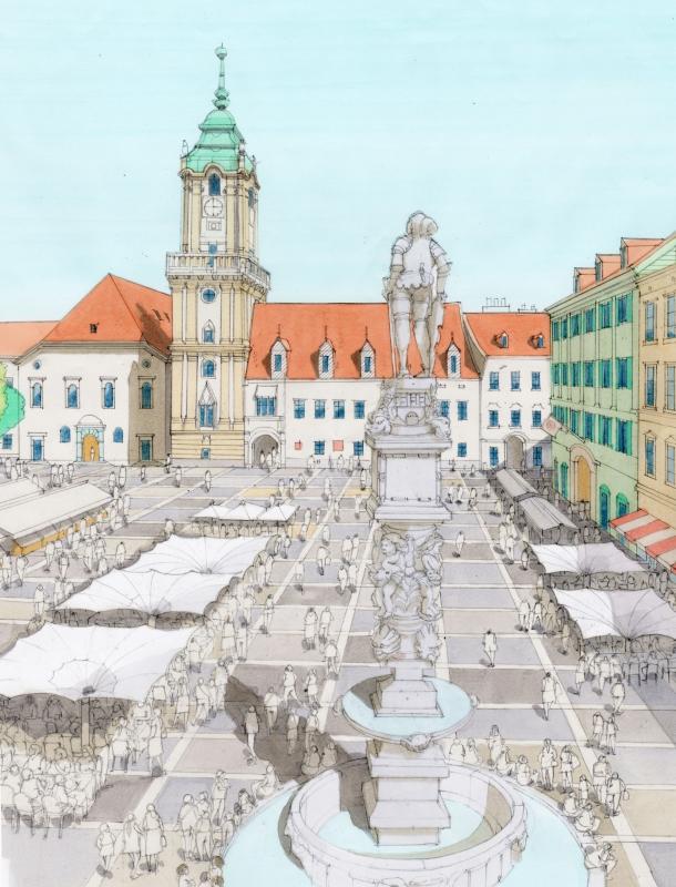 旧市庁舎広場俯瞰